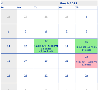 Calender based Scheduler System